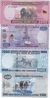 Rwanda - Set 4 Banknotes 500 1000 2000 5000 Francs 2008 - 2014 UNC Lemberg-Zp - Rwanda