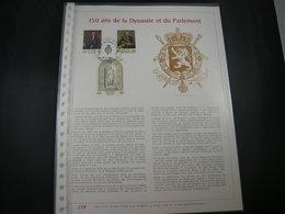 """BELG.1981 2001/2003 Filatelic Gold Card FR. : """" 150 ANS E LA DYNASTIE ET DU PARLEMENT  """" - 1981-90"""
