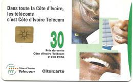 @+  Cote D'Ivoire - Citelcarte - People On Telephones (Gem1B) - Ivoorkust