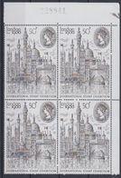 Great Britain 1980 London '80 International Stamp Exhibition 1v Bl Of 4 (sheet Number In Margin) (43615) - 1952-.... (Elizabeth II)