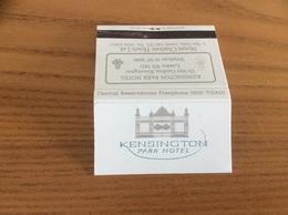 Pochette D'allumettes ANGLETERRE «KENSINGTON PARK HOTEL - LONDON» - Matchboxes