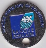 Jeton De Caddie En Métal - Banque Populaire De Bourgogne - Einkaufswagen-Chips (EKW)