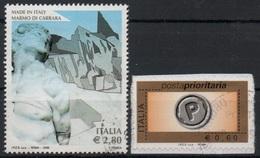 """Italia - Repubblica 2006 """"Made In Italy, Schiavo Ribelle, Statua In Marmo Di Michelangelo €. 2,80"""" Usato - 2001-10: Usados"""