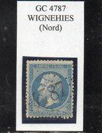 Nord - N° 22 Obl GC 4787 Wignehies - 1862 Napoléon III.