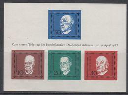 Germany 1969 Ersten Todestag Dr. Konrad Adenauer  M/s ** Mnh (43617) - Europese Gedachte