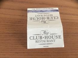 Pochette D'allumettes ANGLETERRE «The CLUB HOUSE RESTAURANT» - Matchboxes