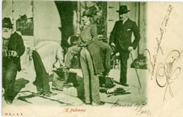 LUSTRASCARPE  'e Pulimme..  Vomero  Napoli Per Genova 1902  Alle Spalle Manifesti Della Tosca - Ambulanti