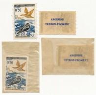 SAINT PIERRE ET MIQUELON - 0F50 Oiseau Avec PUBLICITE ARGININE VEYRON FROMENT Au Dos - 4 Exemplaires - Nuevos