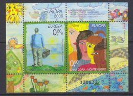 Europa Cept 2006 Montenegro M/s ** Mnh (43619A) - 2006