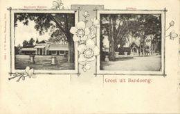 Indonesia, JAVA BANDUNG, Residency Office, Telephone (1899) Multiview Postcard - Indonesië