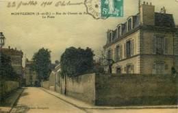 91 - MONTGERON - Rue Du Chemin De Fer - La Poste En 1910 - Toilée Couleur - Montgeron