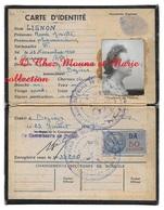 CARTE D IDENTITE 1947 - LIGNON RENEE PHARAMCIENNE NEE 1920 CESSENON HERAULT - TIMBRE 50 FRCS - Documents Historiques