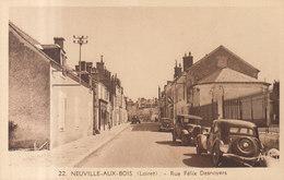 45 NEUVILLE AUX BOIS  : Rue Desnoyers Vieille Voiture ///   REF  JUILLET .19  //   BO.45 - Andere Gemeenten