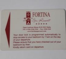 MALTA  HOTEL KEYCARD -  (  HOTEL FORTINA   ) - Hotelkarten