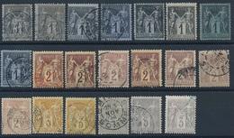 """CV-195: FRANCE: Lot """"SAGE""""  N°83-85-86-87 Obl - 1876-1898 Sage (Type II)"""