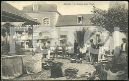 OLD POSTCARD MARCHEE SAO VICENTE CABO CAPE VERDE AFRICA AFRIQUE POSTAL CARTE POSTALE - Cape Verde