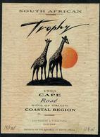 Etiquette De Vin // Afrique Du Sud, Rosé, Les Girafes - Sud Africa