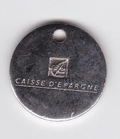 Jeton De Caddie En Métal - Caisse D'Epargne - Banque - Munten Van Winkelkarretjes