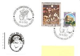 ITALIA - 1982 SALSOMAGGIORE (PR) 4^ Rassegna Enologica (fiasco Di Vino, Bottiglia, Grappolo D'uva) - Vini E Alcolici