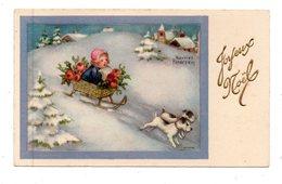 Mignonnette - Joyeux Noël - Enfant, Luge,chien - Illustrateur Hannes PETERSEN - Petersen, Hannes
