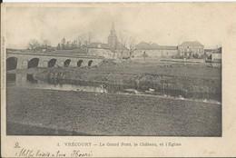 Vrecourt   L Grand Pont  Le Chateau Et L'Eglise - France