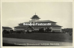 Indonesia, JAVA BANDUNG, Gedung Sate, Built 1920 Architect J. Gerber, RPPC (4) - Indonesië