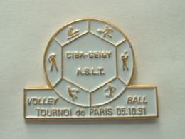 Pin's VOLLEYBALL - TOURNOI DE PARIS 91 - CIBA GEIGY - Voleibol