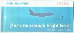 Ticket/Billet D'Avion. Air New Zealand. Wellington/Christchurch. 1983. - Vliegtickets