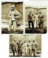 Foto/Photo. Militaria. Aviation. Groupe De Parachutistes. Lot De 3 Photos. - Aviation