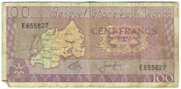 Billet. Rwanda. 100 Francs. 01.07.1965. - Rwanda