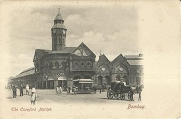 """4748 """" BOMBAY-THE CRAWFORD MARKET """"ANIMATA-CALESSE-TRAM A CAVALLO-CART. POST. OR. NON SPED. - India"""