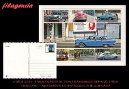 CUBA. ENTEROS POSTALES. TARJETA POSTAL FRANQUEO PREPAGO. 2013 TURISMO. AUTOMÓVILES ANTIGUOS. CHE GUEVARA. FARO - Altri