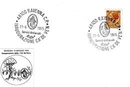 ITALIA - 1975 RAVENNA Inaugurazione Ca' De Ve'n (casa Del Vino, Logo Del Passatore) - Vini E Alcolici