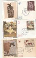 France  Lot 6 Enveloppes Sur Soie FDC Thématique Art Peinture Tableaux  - 2 Scan - Other