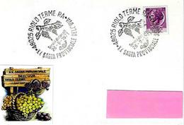 ITALIA - 1971 RIOLO TERME (RA) 20^ Sagra Dell'uva (grappoli D'uva) - Vini E Alcolici
