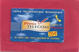 CARTE TELEPHONIQUE ECONOMIQUE - PRESS TELECOM . - France