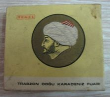 AC -  TRABZON EASTERN BLACK SEA FAIR EXHIBITION MEHMED THE CONQUEROR TURKISH HARD PACKED EMPTYBOX FOR COLLECTION - Other
