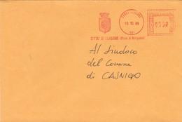 BUSTA VIAGGIATA - PIANICO (BG) COMUNE DI PIANICO (PROVINCIA DI BERGAMO) VIAGGIATA  PER CLUSONE (BG) - Affrancature Meccaniche Rosse (EMA)