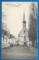 37 - CRAVANT-LES-CÔTEAUX -  MAIRIE ET NOUVELLE ÉGLISE -  1916 - Autres Communes
