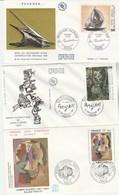 France  Lot 9 Enveloppes FDC Thématique Art Peinture Tableaux  Dont 2 Cachets Différents Pour Dufy - 3 Scan - FDC