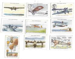Collection BOZON VERDURAZ - AVIONS - Lot De 10 Vues 7.5 X 4.5 Cm - - ....-1914: Précurseurs