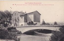 66. BOURG MADAME. CPA. PASSAGE D'UN ATTELAGE DE FOIN  SUR LE PONT DE LA ROUTE NATIONALE . + TEXTE ANNÉE 1937 - Andere Gemeenten