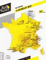 Carte Du Tour De France 2019 - Cycling