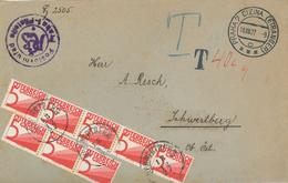 Nachgebühr Brief Prag Nach Schwertberg 1927 - Briefe U. Dokumente