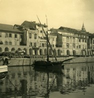 Italie Oneglia Le Port Bateaux Ancienne Photo Stereo NPG 1900 - Stereoscopic