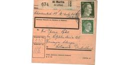 Colis Postal  -  De St Martin ( B Littai ) - Deutschland