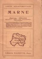 MARNE - CARTE DU DEPARTEMENT DE LA MARNE - Geographical Maps