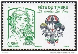 France Marianne De La Jeunesse Par Ciappa Et Kawena N° 4809 ** Fête Du Timbre 2013 - Le Timbre Fête L'air - 2013-... Marianne (Ciappa-Kawena)