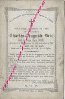 En 1881 Hallines (62) -Charles SECQ Ep Marie SOOTS - Décès