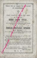 En 1869 Et 1880 Hazebrouck Et Borre-Henri SECQ Et Fidélie SENGIER - Décès